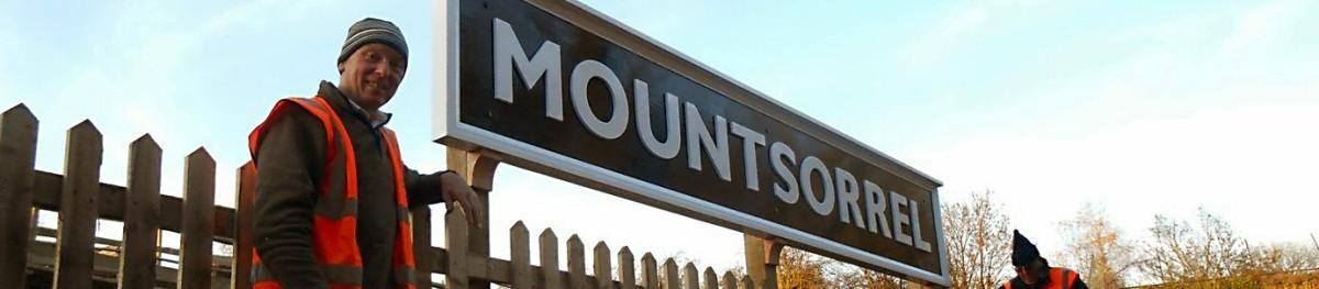 Station sign at Mountsorrel Station