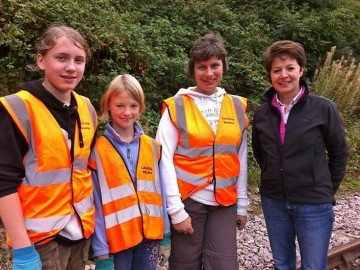 Helen Mark fro Radio 4 with some of the volunteers