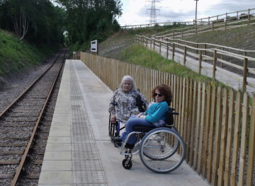 Wheelchair access at Mountsorrel Station