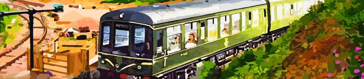 Trains running poster