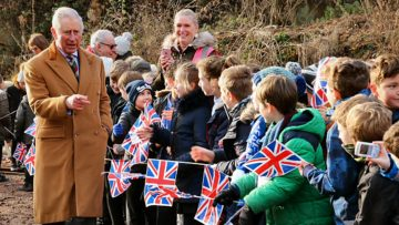 HRH meets children