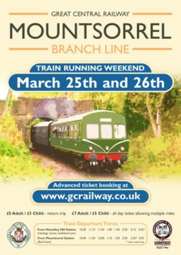 Train Running weekend 25 and 26 Mar 2017