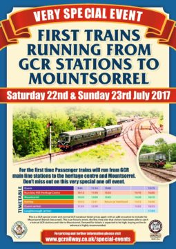 Through trains running 22-23 july 2017