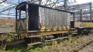 Midland Railway Brake Van awaiting restoration