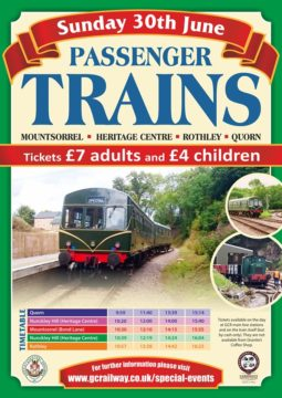 GCR Trains 30 June 2019