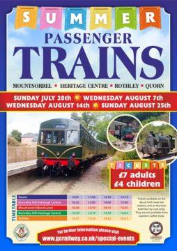 Summer train poster