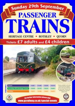 Trains running Autumn 2019