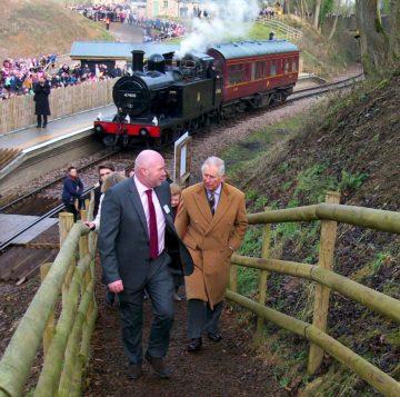 Steve Cramp with HRH Prince Charles