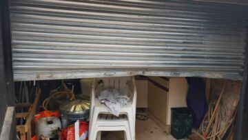 Damage to roller shutter doors