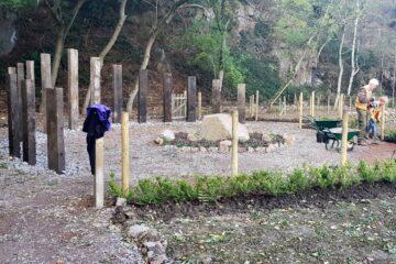 Creating the memorial garden